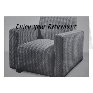 Vintage Armchair Enjoy your Retirement Greeting Card