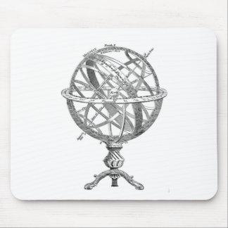 Vintage Armillary Sphere Mouse Pad
