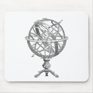 Vintage Armillary Sphere Mouse Mat