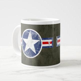 Vintage Army Air Corps Patriotic Star Jumbo Mugs