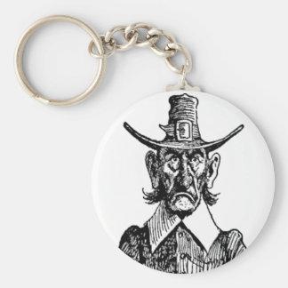Vintage Army Man Caricature Art Round Keychain! Keychain