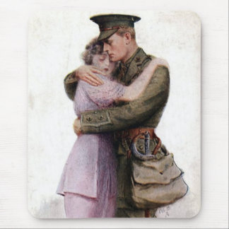 Vintage Army Military Return Home Mouse Pad
