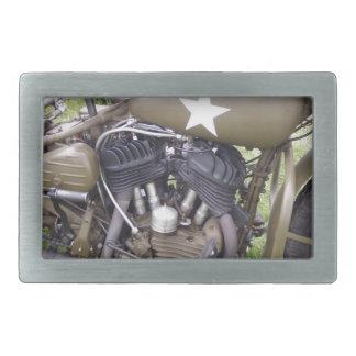 Vintage Army Motorcycle Rectangular Belt Buckle