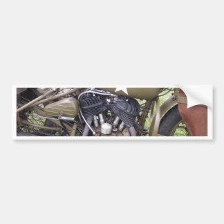 Vintage Army Motorcycle Car Bumper Sticker