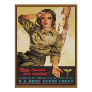 Vintage Army Nurse Corps Posters