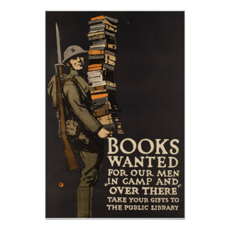 Vintage Army Poster Book Soldier Poster