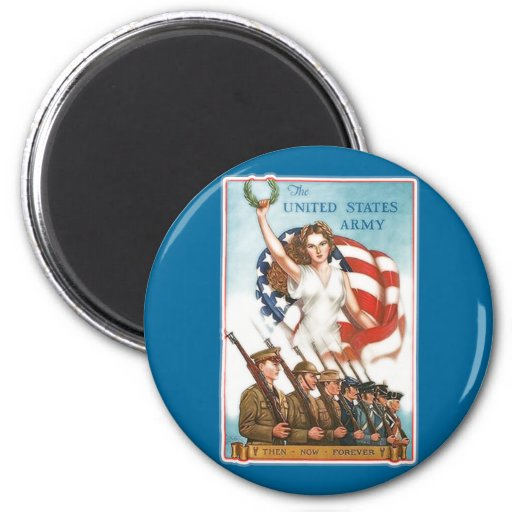 Vintage Army Poster with Lady Liberty Tshirts Fridge Magnets