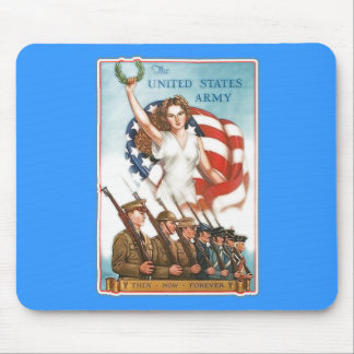 Vintage Army Poster with Lady Liberty Tshirts Mouse Pad
