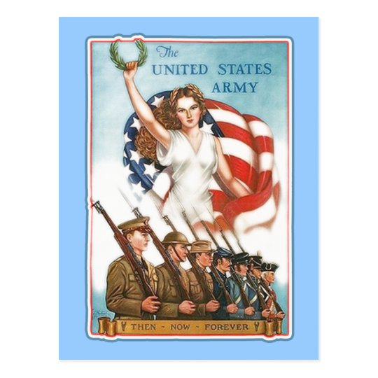 Vintage Army Poster with Lady Liberty Tshirts Postcard