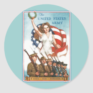 Vintage Army Poster with Lady Liberty Tshirts Sticker