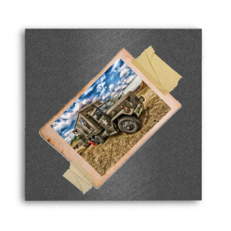 Vintage Army Truck Envelopes