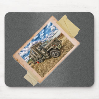 Vintage Army Truck Mouse Pad