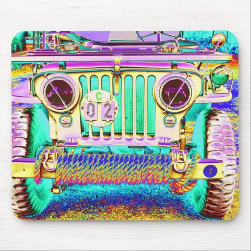 vintage army truck mousepads