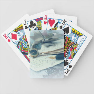 vintage arrangement, bicycle playing cards