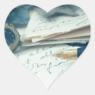 vintage arrangement, heart sticker