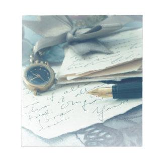 vintage arrangement, note pad