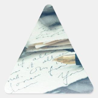 vintage arrangement, triangle sticker