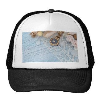 vintage arrangement, trucker hat