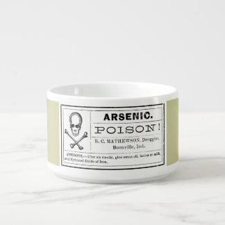 Vintage Arsenic Label Chili Bowl