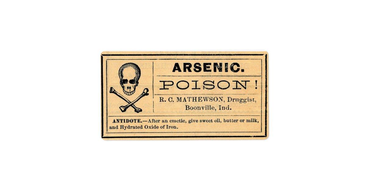 Vintage Arsenic Label Poison Halloween | Zazzle