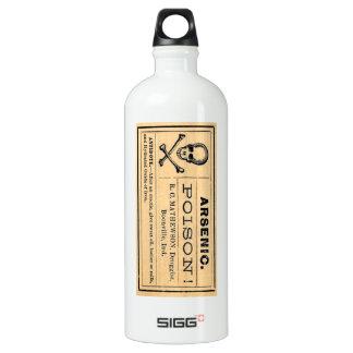 Vintage Arsenic Poison Label Aluminum Water Bottle