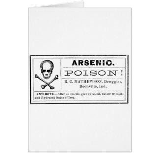 Vintage Arsenic Poison Label Card