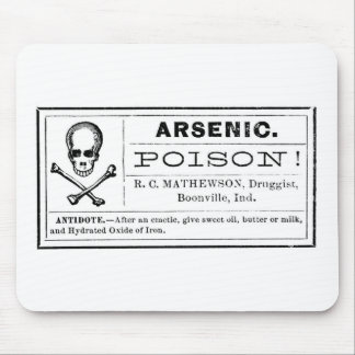 Vintage Arsenic Poison Label Mouse Pad