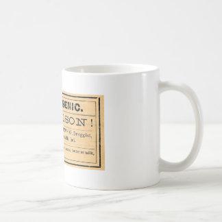 Vintage Arsenic Poison Label Mug