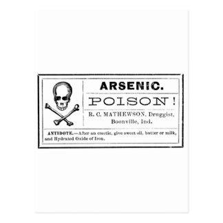 Vintage Arsenic Poison Label Postcard