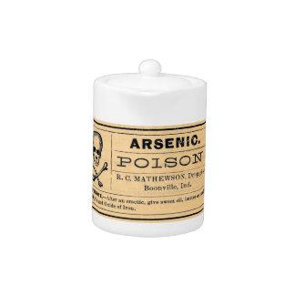 Vintage Arsenic Poison Label Teapot