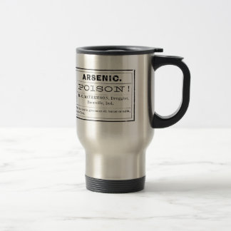Vintage Arsenic Poison Label Travel Mug