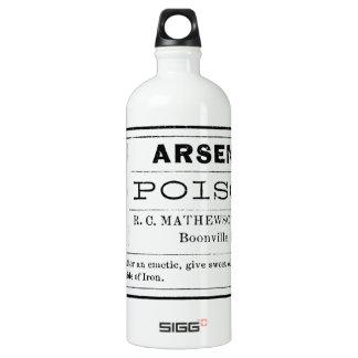 Vintage Arsenic Poison Label Water Bottle