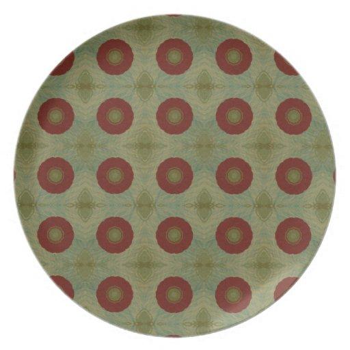 Vintage art abstract decor wall plate - Decor wall plates ...