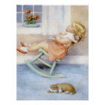 Vintage Art - Adorable Little Girl Poster