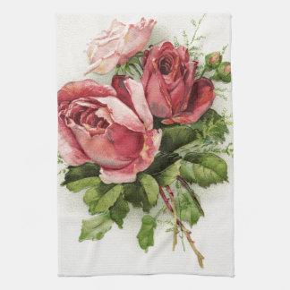 Vintage Art Antique Roses Kitchen Towel
