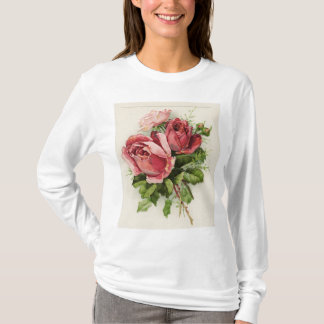 Vintage Art Antique Roses T-Shirt