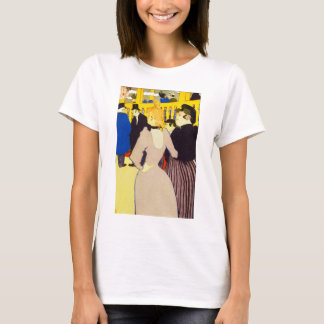Vintage Art, At the Nightclub by Toulouse Lautrec T-Shirt