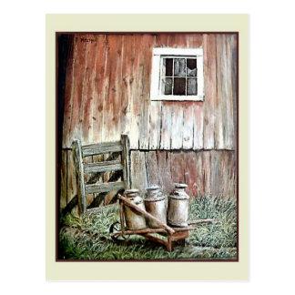 Vintage art - B. Martin, Milk Jugs Postcard