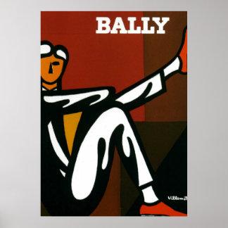 Vintage Art Bally Shoes Villemot Poster Print
