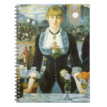 Vintage Art, Bar at the Folies Bergere by Manet Notebook