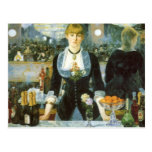 Vintage Art, Bar at the Folies Bergere by Manet Postcard