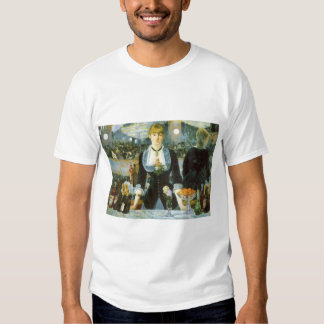 Vintage Art, Bar at the Folies Bergere by Manet Tees