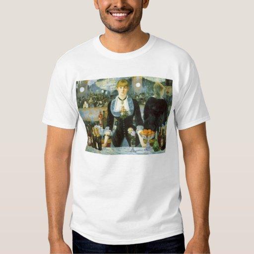 Vintage Art, Bar at the Folies Bergere by Manet Tshirt