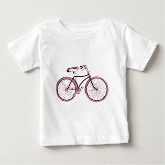 Vintage Art bike sports pink cute customized name Baby T-Shirt