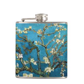 Vintage art Blossoming Almond Tree Van Gogh Flask