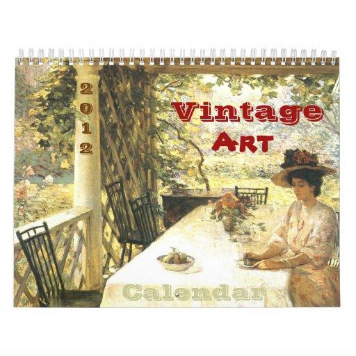Vintage Art Calendar 2012