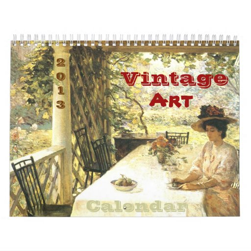 Vintage Art Calendar 2013