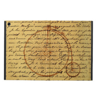 Vintage Art Calligraphy and Retro bicycle iPad Air Case