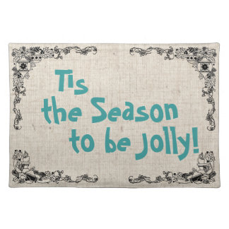 Vintage Art & Christmas Song Placemats