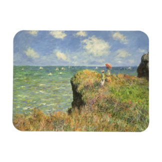 Vintage Art, Cliff Walk Pourville by Claude Monet Rectangular Photo Magnet
